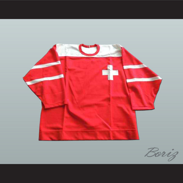 Swiss National Team Hockey Jersey Any Player or Number - borizcustom