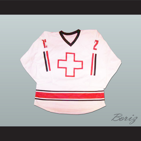 Swiss National Team Luca Cunti Hockey Jersey Any Player or Number - borizcustom - 1