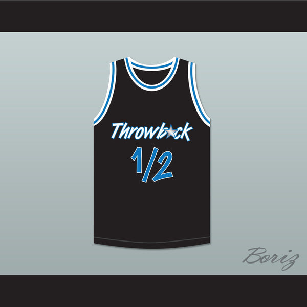 new arrival 38560 8deca Anfernee Penny Hardaway Lil Penny 1/2 Throwback Black Basketball Jersey
