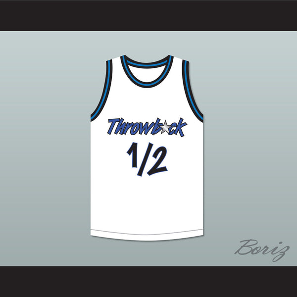 differently bb872 18b7b Anfernee Penny Hardaway Lil Penny 1/2 Throwback White Basketball Jersey