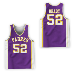 Tom Brady 52 Junipero Serra High School Padres Basketball Jersey Colors