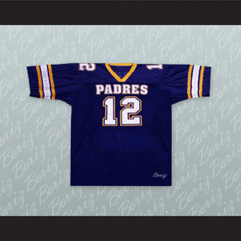 Tom Brady 12 Junipero Serra Padres High School Football Jersey - borizcustom