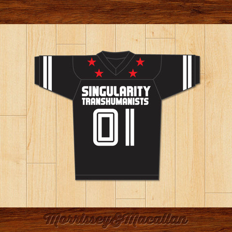 Ray Kurzweil 01 Singularity Transhumanists Football Jersey by Morrissey&Macallan - borizcustom