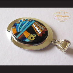 P Middleton Turkey Pendant Sterling Silver .925 with Micro Stone Inlay - borizcustom - 4