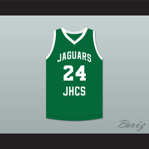 Tacko Fall 24 Jamie's House Charter School Jaguars Green Basketball Jersey 2