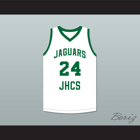 Tacko Fall 24 Jamie's House Charter School Jaguars White Basketball Jersey