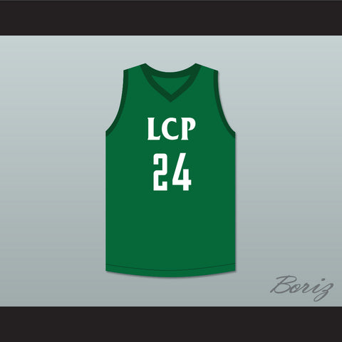 Tacko Fall 24 Liberty Christian Prep Lions Green Basketball Jersey