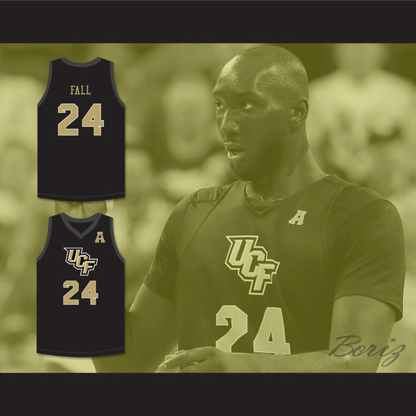huge selection of 9fb1d 7f673 Tacko Fall 24 UCF Knights Black Basketball Jersey with Patch