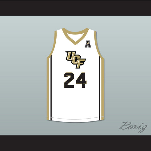 Tacko Fall 24 UCF Knights White Basketball Jersey with Patch 2