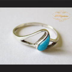 P Middleton Teardrop Turquoise Ring Sterling Silver 925 - borizcustom - 2