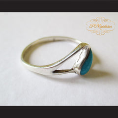 P Middleton Teardrop Turquoise Ring Sterling Silver 925 - borizcustom - 3