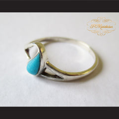 P Middleton Teardrop Turquoise Ring Sterling Silver 925 - borizcustom - 4