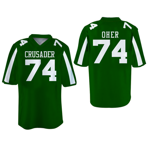 The Blind Side Michael Oher 74 Crusaders High School Football Jersey Clors