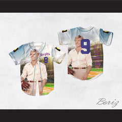 Roy Hobbs 9 New York Knights Robert Redford Design Baseball Jersey The Natural