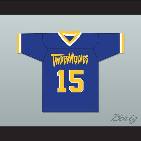 Tom Stewart 15 Fernfield Timberwolves Football Jersey
