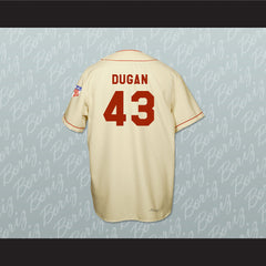 Tom Hanks Jimmy Dugan Rockford Peaches Baseball Jersey Stitch Sewn - borizcustom