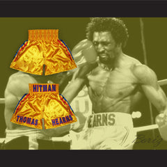 Tommy 'The Hitman' Hearns Yellow Boxing Shorts