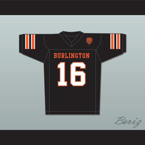 Tony Romo 16 Burlington High School Demons Black Football Jersey with Patch