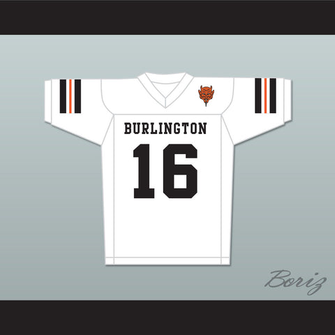 Tony Romo 16 Burlington High School Demons White Football Jersey with Patch