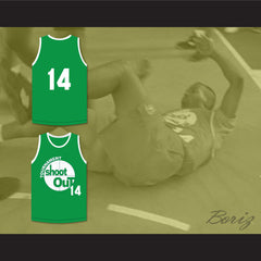 14 Green Tournament Shoot Out Basketball Jersey Above The Rim - borizcustom