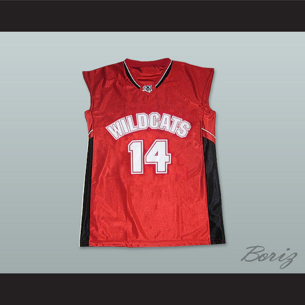 Zac Efron Troy Bolton 14 East High School Wildcats Home Basketball Jersey 1221b63ad