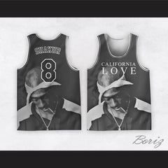 Tupac Shakur 8 California Love Basketball Jersey