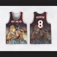 Tupac Shakur 8 Hit Em Up Basketball Jersey