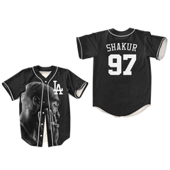 Tupac Shakur 16 Thug Thoughts with Gangsta Baseball Jersey