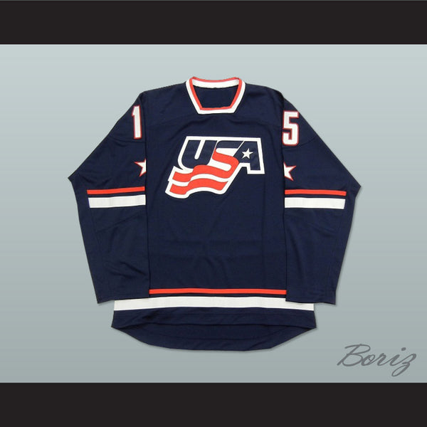 USA National Team Blue Hockey Jersey Any Player or Number - borizcustom