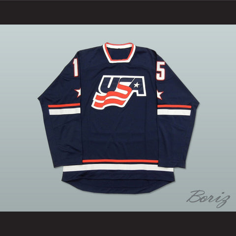 USA National Team Blue Hockey Jersey Any Player or Number e5ab01afe