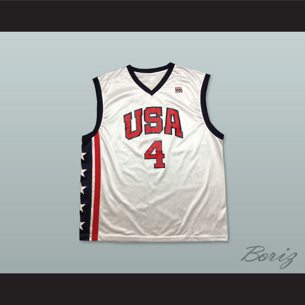 99c66db6f70 Product Image Allen Iverson 4 USA Team Home Basketball Jersey - borizcustom  - 1 ...