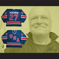 1980 Miracle On Ice Team USA Phil Verchota 27 Hockey Jersey Any Player Or Number - borizcustom