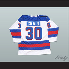 1980 Miracle On Ice Team USA Jim Craig 30 Hockey Jersey New - borizcustom