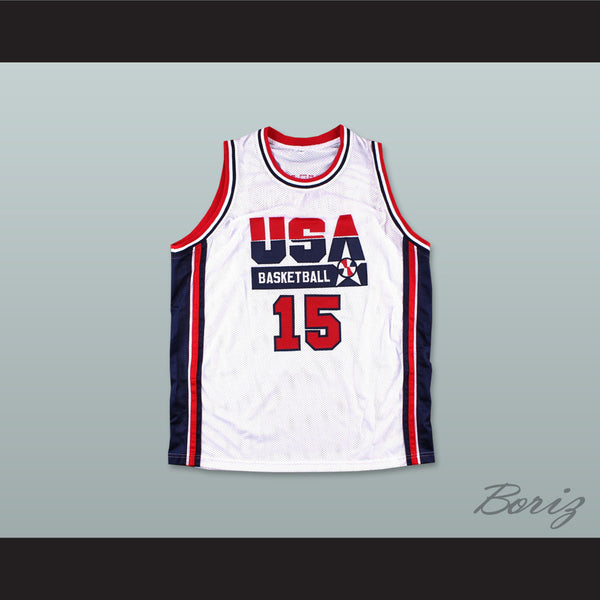 MAGIC JOHNSON Jersey TEAM USA JERSEY BLUE NEW SEWN ANY SIZE