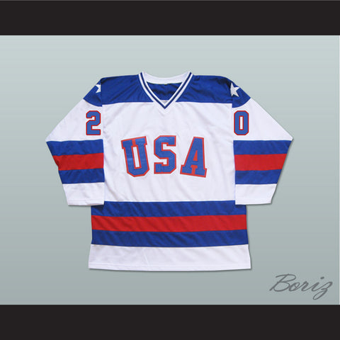 1980 Miracle On Ice Team USA Bob Suter 20 Hockey Jersey New - borizcustom