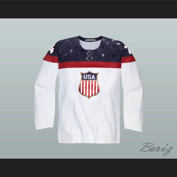 huge discount 89df9 08239 T.J. Oshie 74 USA National Team Hockey Jersey New