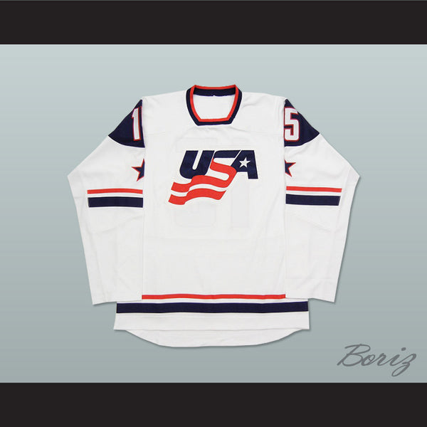 USA National Team White Hockey Jersey Any Player or Number - borizcustom