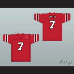 1974 WFL Virgil Carter 7 Chicago Fire Road Football Jersey with Patch