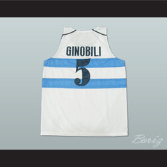 Manu Ginóbili Angetine Basketball Jerseys 3 Styles Sewn All Sizes - borizcustom