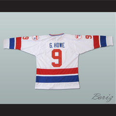 Gordie Howe 9 Hockey Jersey WHA 79 Stitch Sewn Any Size Any Name Any Number New - borizcustom - 2