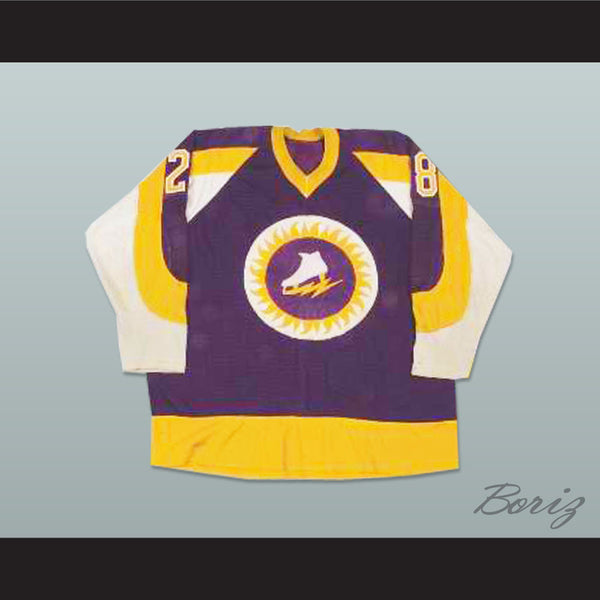 WHA New York Golden Blades Hockey Jersey Stitch Sewn NEW - borizcustom