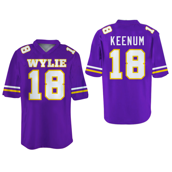 new product bad23 55d6d Case Keenum Wylie High School Football Jersey Stitch Houston Quarterback  Texas