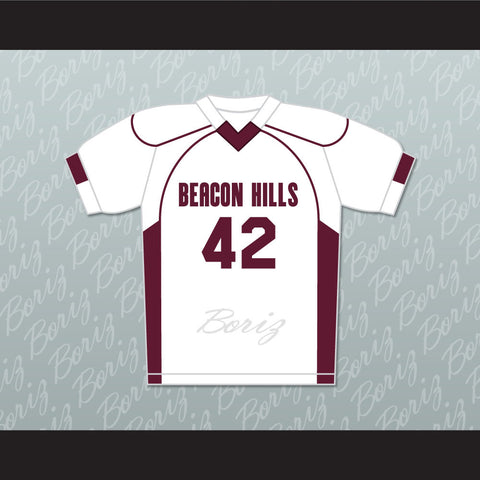 Scott Howard 42 Beacon Hills Cyclones Lacrosse Jersey Teen Wolf - borizcustom - 1