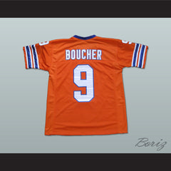 Adam Sandler Bobby Boucher The Waterboy Mud Dogs Football Jersey with Bourbon Bowl Patch - borizcustom