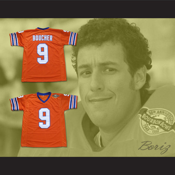 ... Adam Sandler Bobby Boucher The Waterboy Mud Dogs Football Jersey with Bourbon  Bowl Patch - borizcustom 15872b40d7a0