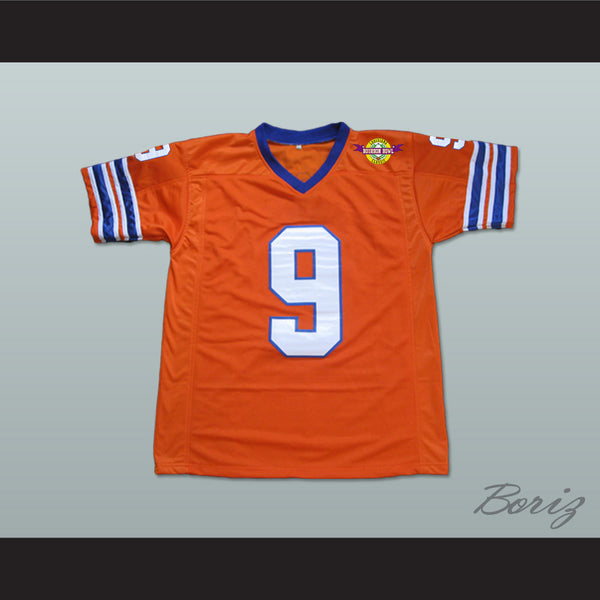 Adam Sandler Bobby Boucher The Waterboy Mud Dogs Football Jersey with Bourbon Bowl Patch Alternate - borizcustom
