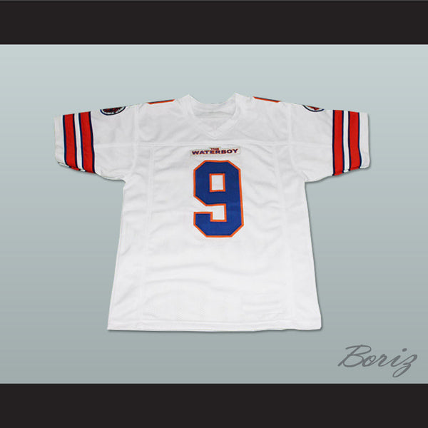 Adam Sandler Bobby Boucher The Waterboy Mud Dogs Football Jersey White - borizcustom