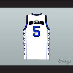 Lucas Scott One Tree Hill Ravens White Basketball Jersey Any Number or Player - borizcustom