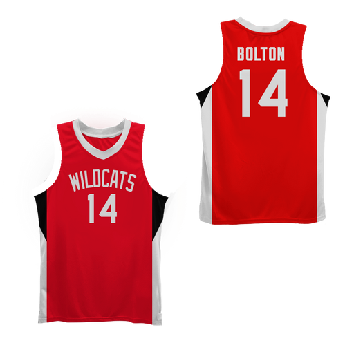 c616c0e01 Zac E Troy Bolton 14 East High School Wildcats Basketball Jersey Colors