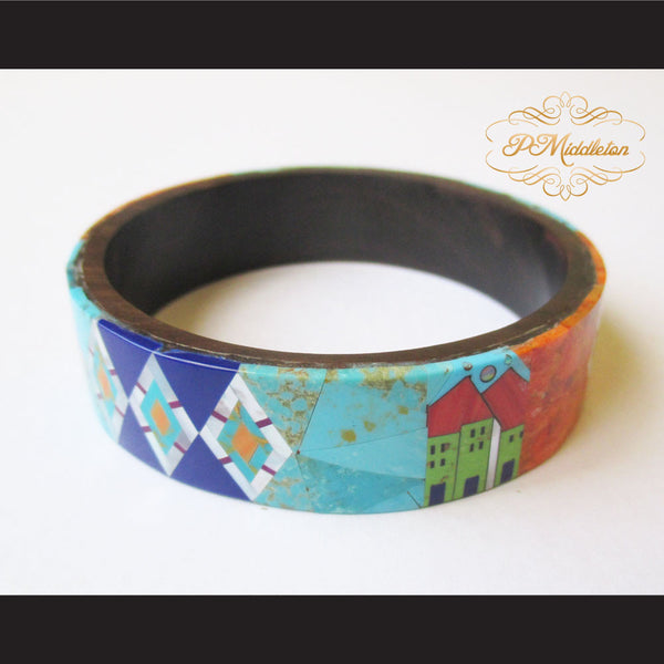 P Middleton Camagong Wood Bangle Elaborate Micro Inlay Design 12 - borizcustom